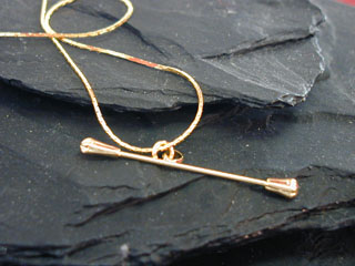 Baton Necklace (Gold Or Silver)