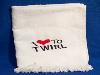 Twirl Towel White or Blue