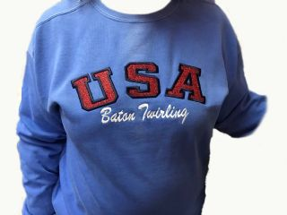 USA Baton Twirling Comfort Colors Sweatshirt